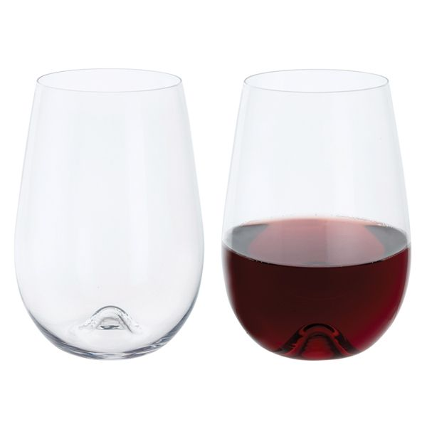 Stemless Red Wine Crystal Wine Glasses