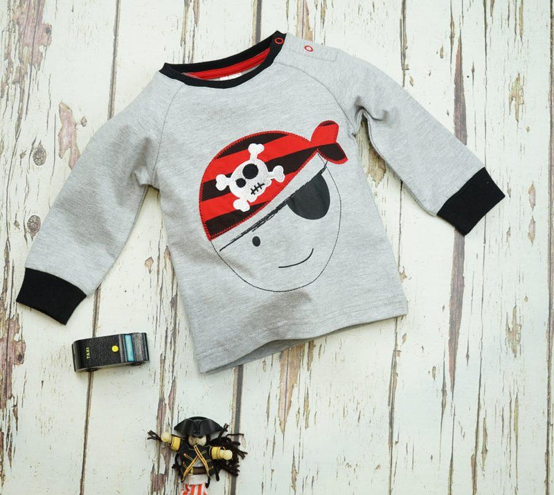 Striped Pirate Long Sleeve Top