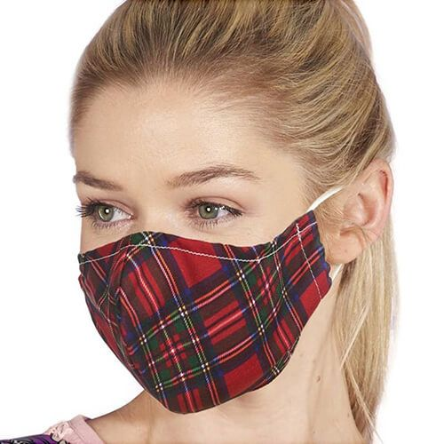 Eco Chic Face Covering - Red Tartan