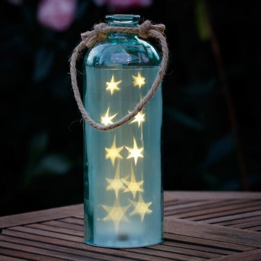 Giant LED Stars In A Bottle, Blue