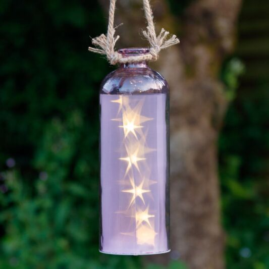 Giant  LED Stars In A Bottle, Purple
