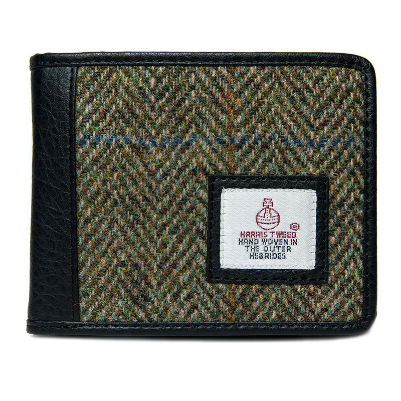 Harris Tweed Trifold Wallet- Country Green