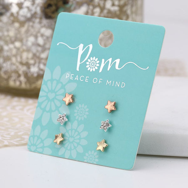 Triple Star Earring Set
