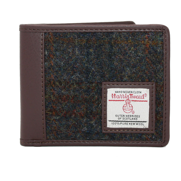 Harris Tweed Trifold Wallet- Heather