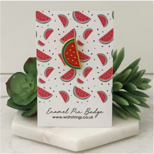 Watermelon Enamel Pin Badge