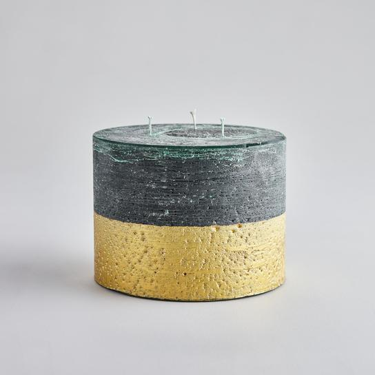 St. Eval- Gold dipped large winter thyme candle