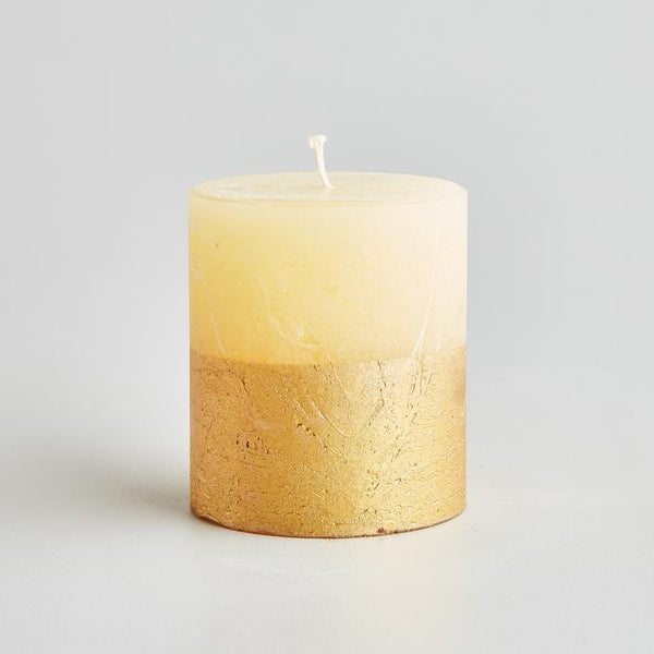 Inspiritus Scented Gold Dipped Pillar Candle