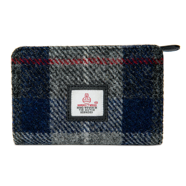 Harris Tweed Zip Purse- Blue Check