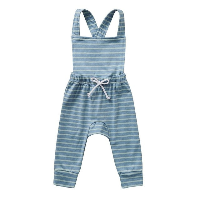 Backless Striped Romper Set