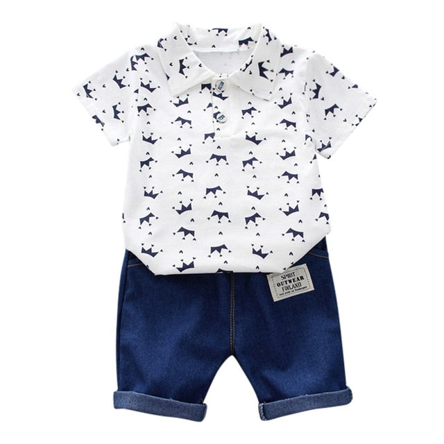 Baby Boy Short Sleeve Outfit