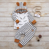 Feather Rompers and Striped Outfit