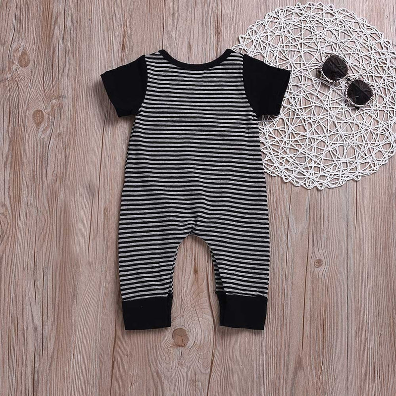Baby Striped Print Jumpsuit
