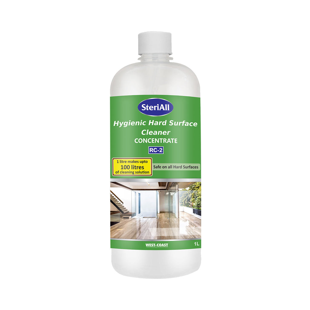 SteriAll Hygienic Hard Surface Cleaner Concentrate (1 Litre Makes Up to 100 Litres of Cleaning Solution) - 1L