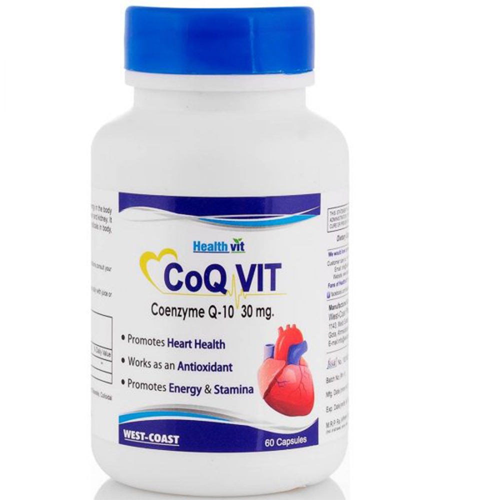 Healthvit High Absorption Co-Qvit Coenzyme Q10 - 30mg 60 Capsules