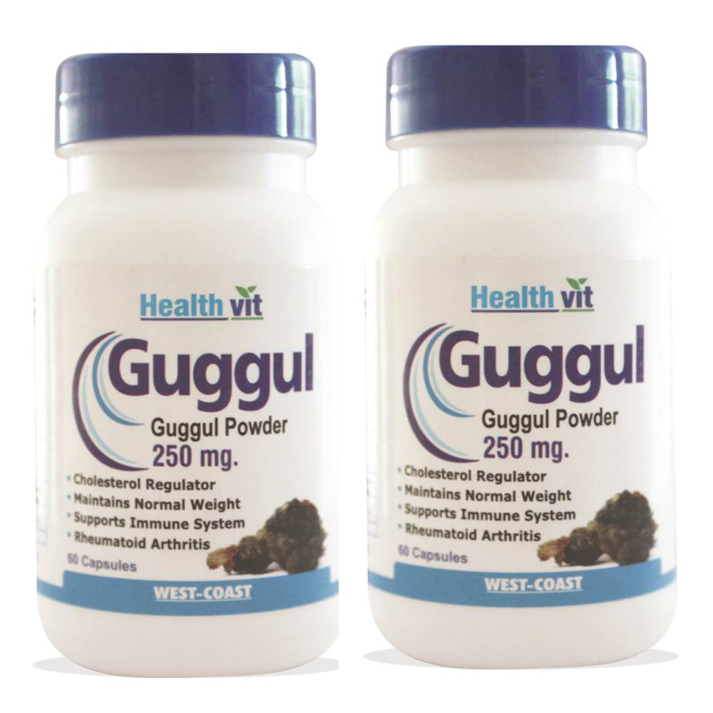 HealthVit Guggul Powder 250MG 60 Capsules | Pack Of 2 For Weight Management