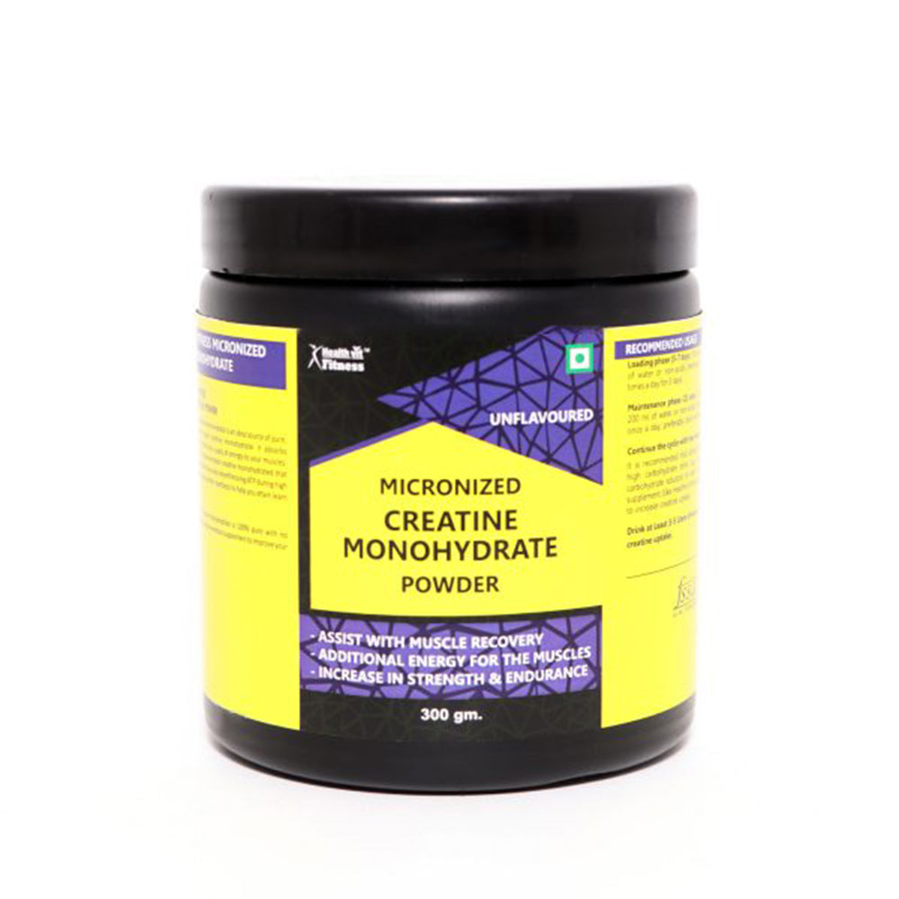 Healthvit Fitness Micronised Creatine Monohydrate Powder - 300gm