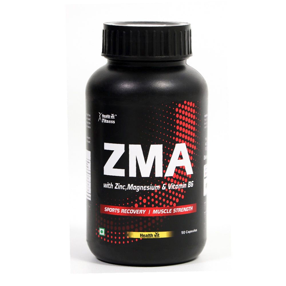 Healthvit Fitness ZMA (Zinc, Magnesium, Vitamin B6) Nightime Recovery Support - 90 Capsules
