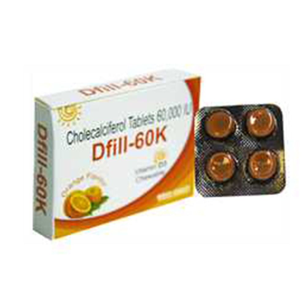 Dfill-60k Cholecaiferol | 60,000 IU Tablets Pack of 3