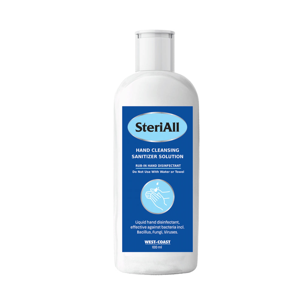 SteriAll Hand Cleansing Sanitizer Solution -100ml - (Pack of 5)