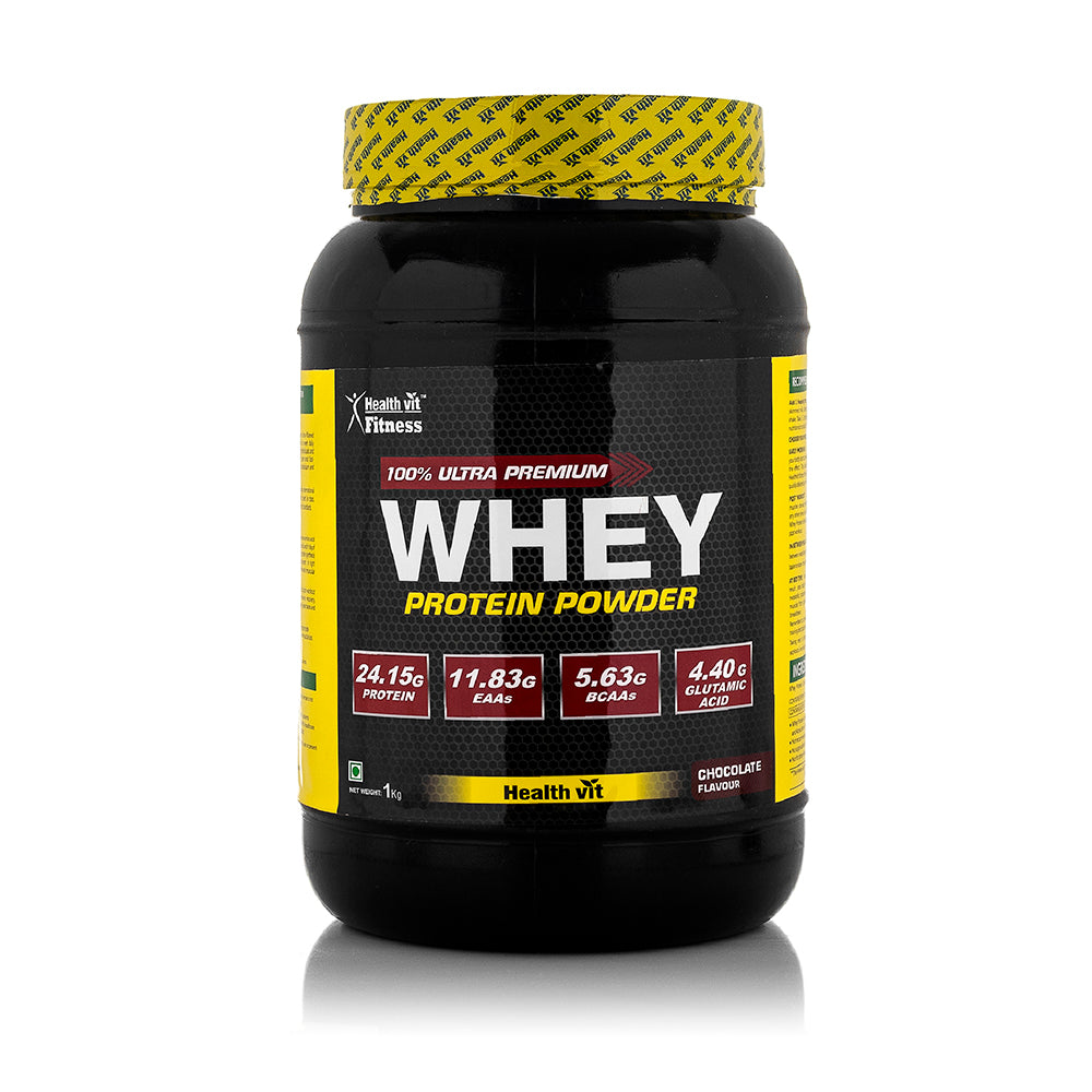 Healthvit Fitness 100% Ultra Premium Whey Protein | 1kg / 2.2lbs ( Chocolate Flavor )