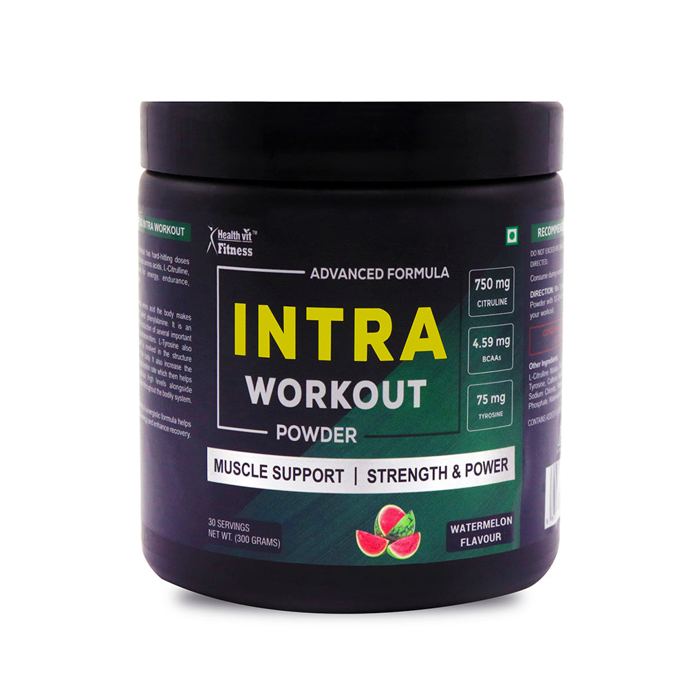 Healthvit Fitness Intra Workout Powder Advanced Formula 300 gm - Watermelon Flavour