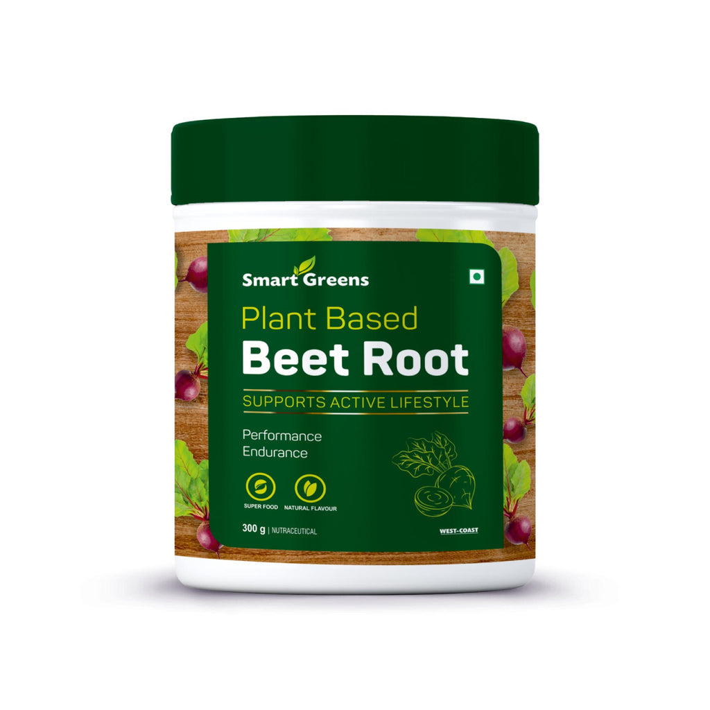 Smart Greens Plant Based Beet Root Powder, Concentrated Beet Root Crystals, Nitric Oxide Booster, Natural Circulation, Immune Support, Antioxidants, Endurance, Superfood - 300gm
