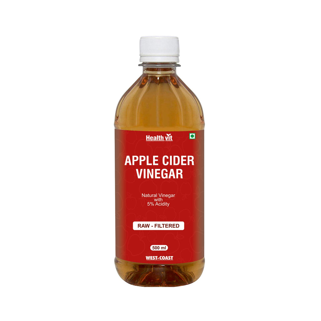 Healthvit Apple Cider With Honey Natural & Pure With Goodness Of Mother Vinegar | 500ML