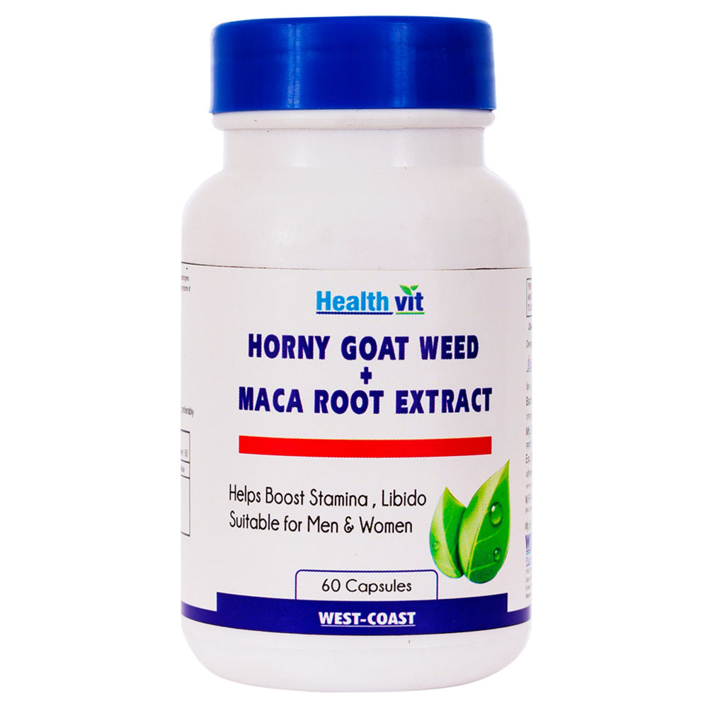 Healthvit Horny Goat Weed   Maca Root Extract 800mg 60 Capsules