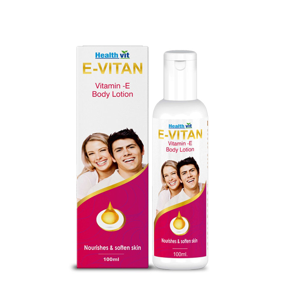 Healthvit E-Vitan Vitamin E Lotion,  100ml (Pack of 2)