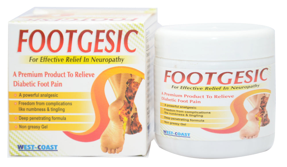 West Coast Footgesic Gel Relieve Diabetic Foot Pain, 100g (Pack of 2)