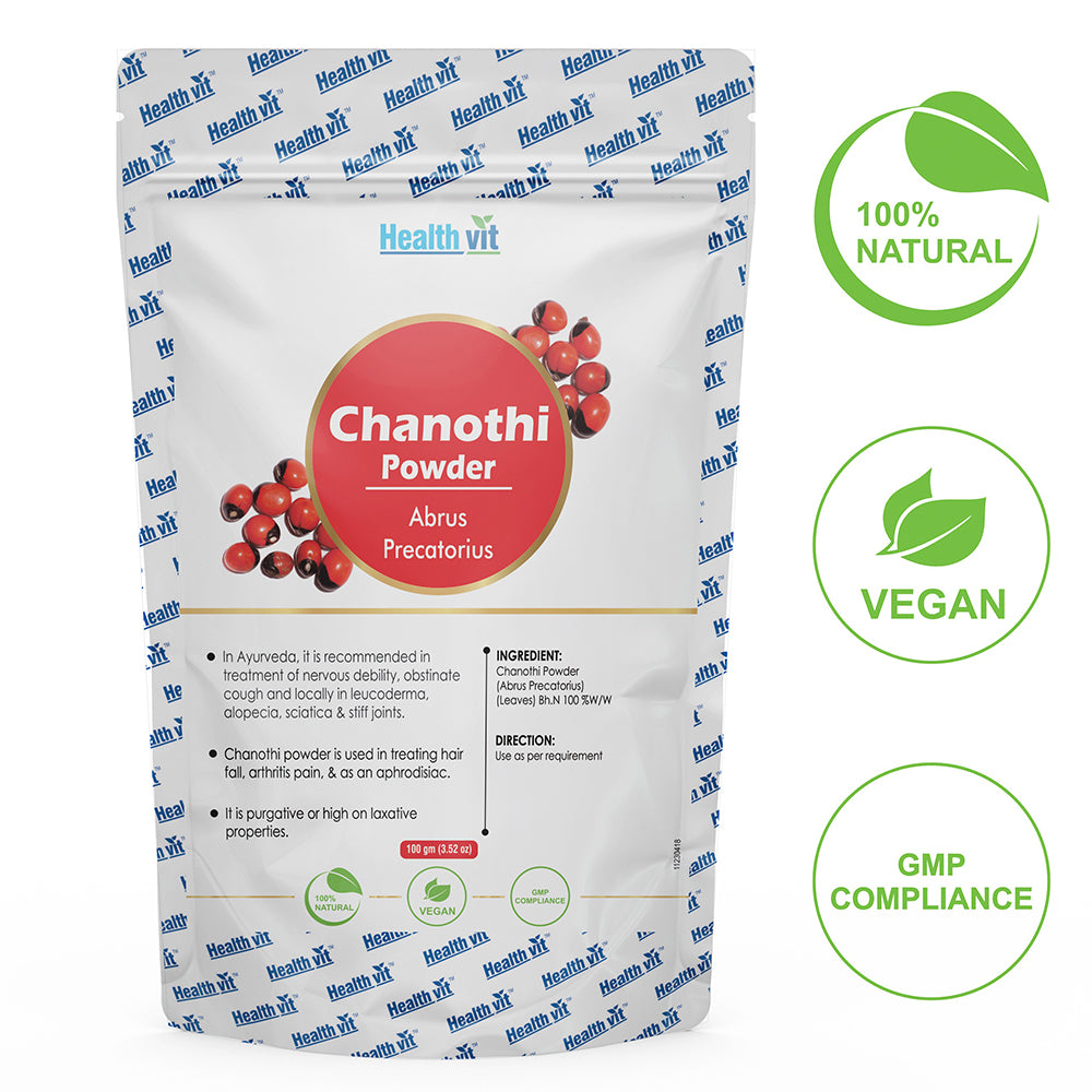 Healthvit Natural Chanothi (Abrus Precatorius) Powder 100g