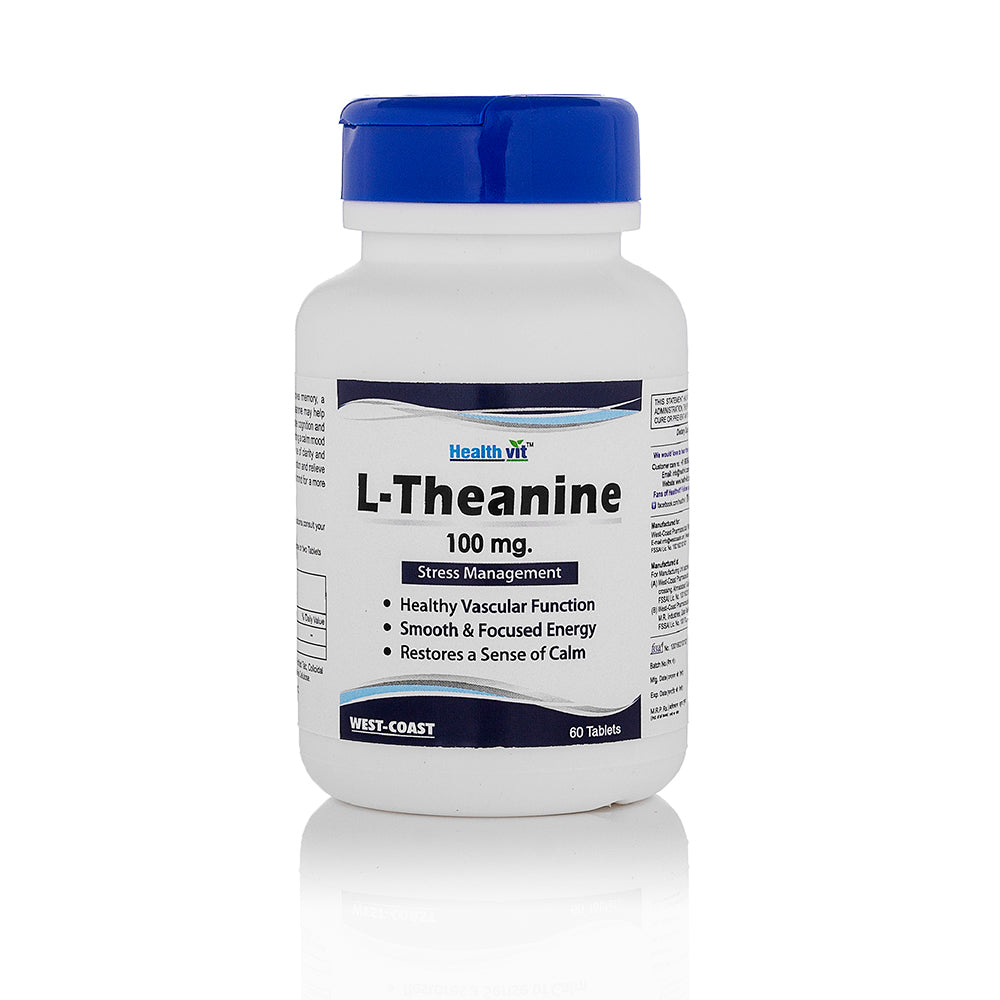 Healthvit L-Theanine 100 mg 60 Tablets Stress Management