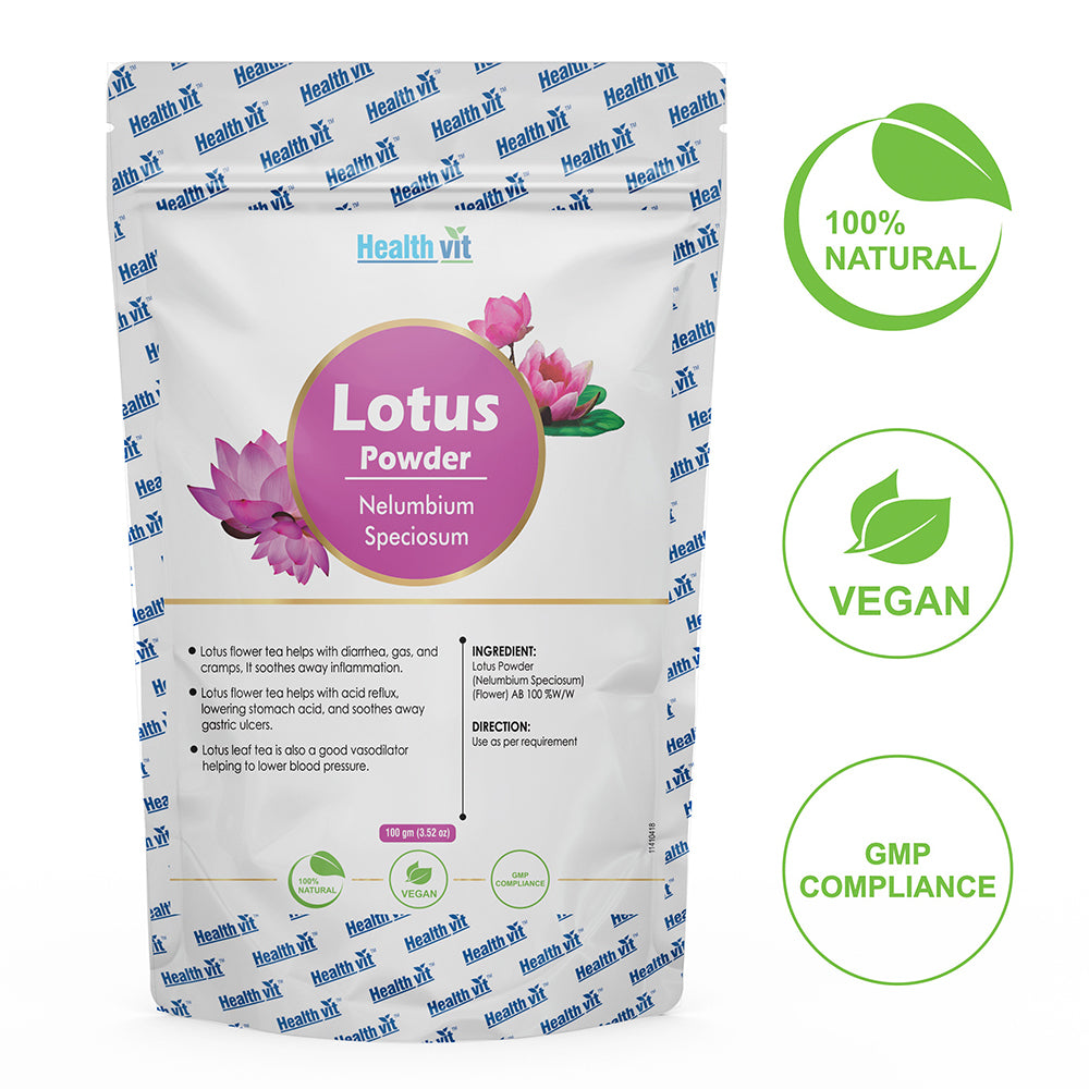 Healthvit Natural Lotus (Nelumbium Speciosum) Powder 100g