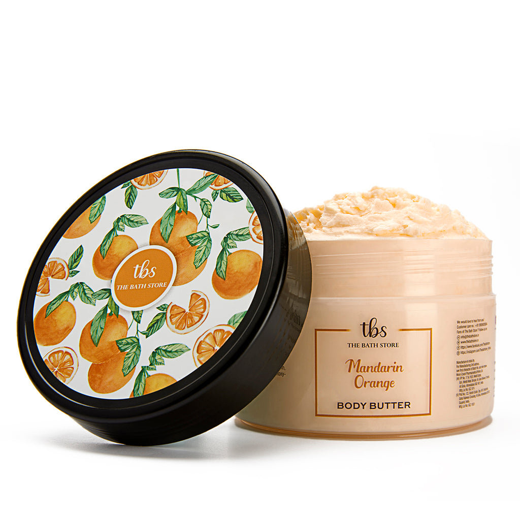 The Bath Store Mandarin Orange Body Butter for Deep Moisturizing & Tan Removal, for All Skin Type - 200 gm