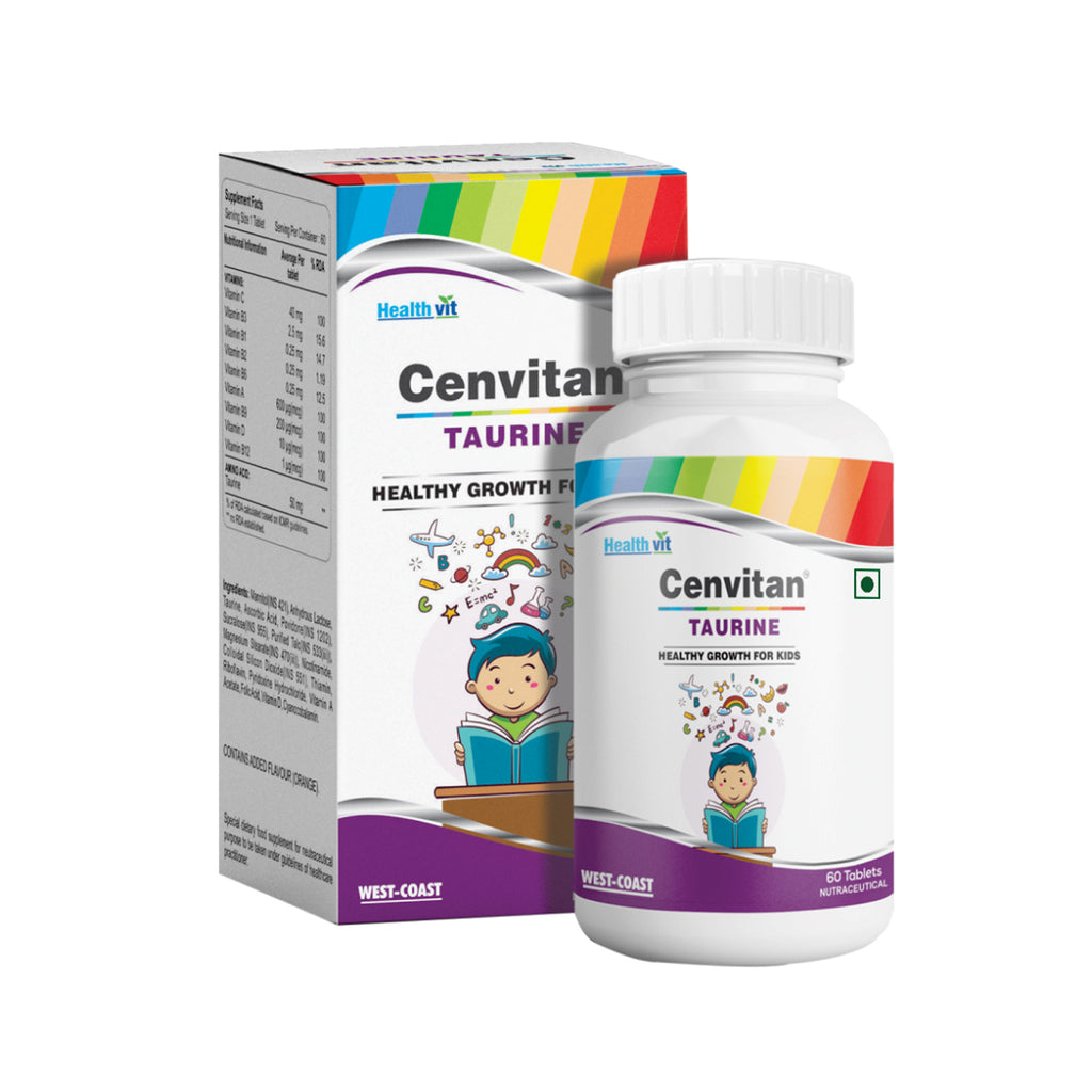 Healthvit Cenvitan Taurine Healthy Growth for Kids - 60 Tablets