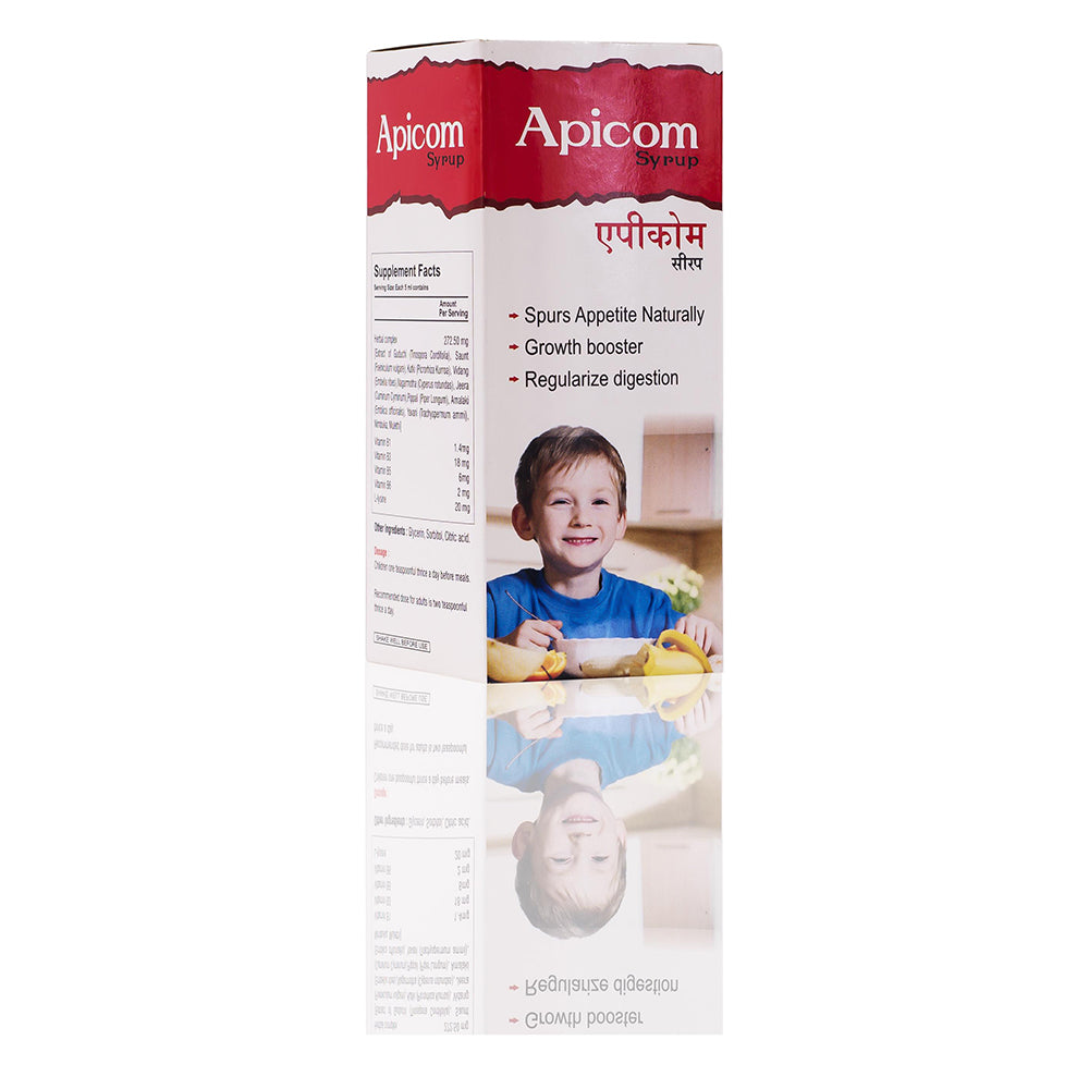 Apicom Syrup For Growth Booster & Regularize Digestion Pack of 3 150ML