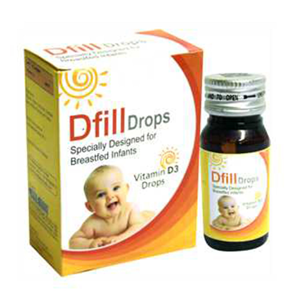 West-Coast Dfill Vitamin D3 drops For Specially Designed for Breastfed Infants, 30ml (Pack of 4)