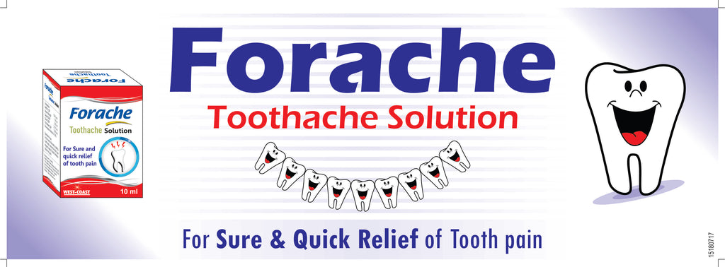 West-Coast Forache Toothache Drops For Sure and Quick Relief, 5ml (Pack of 5)