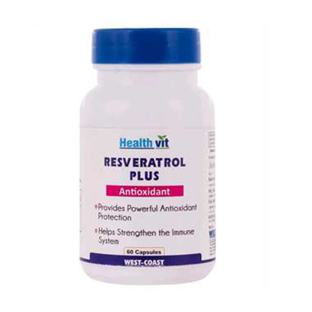 Healthvit Resveratrol Plus with Green Tea, Grape Seed Complex | 60 Capsules