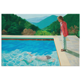 Pool with Two Figures by David Hockney real
