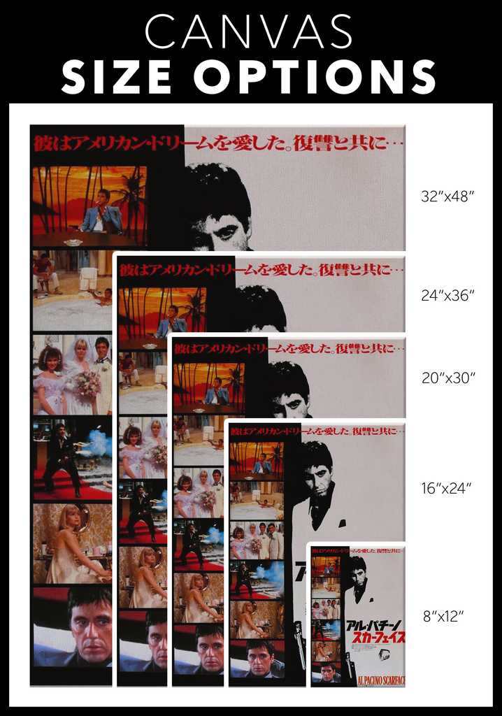 Japanesse Scarface Canvas Print