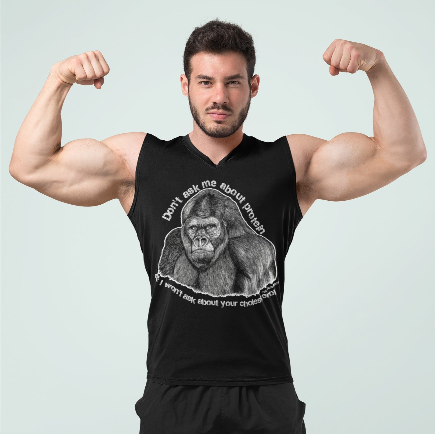 """Gorilla Protein"" Muscle Shirt - HERBIVORE POWER - The Vegilante"