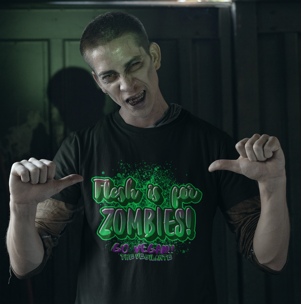 """Flesh is for Zombies"" Unisex T-Shirt"