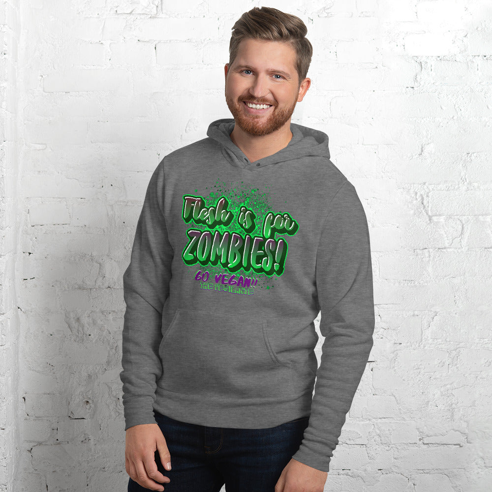 """Flesh is for Zombies"" Unisex hoodie - The Vegilante"