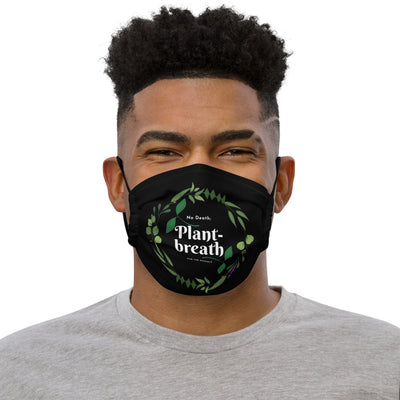 """Plant-breath"" Adjustable Face mask (Black Microfiber) - The Vegilante"