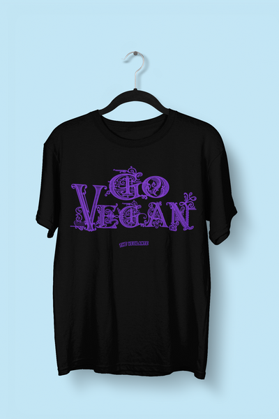 """Go Vegan"" Calligraphy unisex t-shirt - The Vegilante"