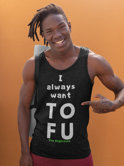 """TOFU"" Unisex Tank Top - The Vegilante"