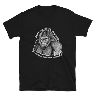 """Gorilla Protein"" Unisex T-Shirt - HERBIVORE POWER! - The Vegilante"