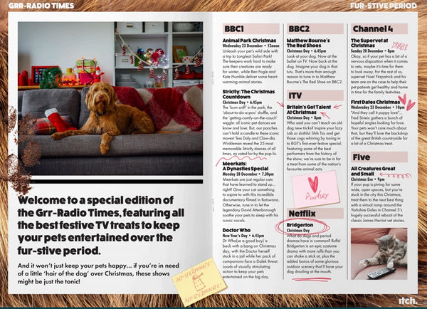 Radio times  pets christmas entertainment anxiety calming stress