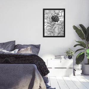 "Tablou print ""One Path"" floare decor"